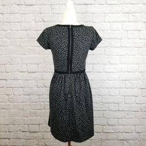 LOFT Dresses - Loft gray black animal print short sleeve dress